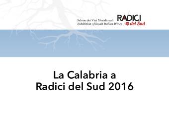 La Calabria di Radici del Sud 2016