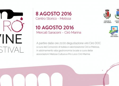 Parte la prima edizione del Cirò Wine Festival – 8/9 agosto 2016