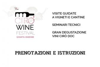 Cirò Wine Festival – prenotazioni e istruzioni