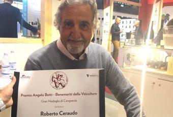 Roberto Ceraudo è il benemerito della viticoltura italiana 2019