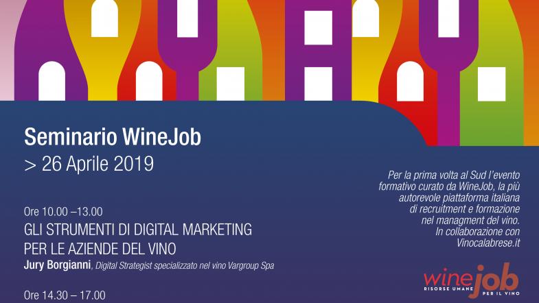 WineJob per la formazione professionale delle aziende del vino calabrese